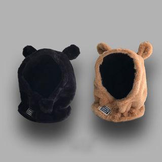 TAAK - Bear Ear Chenille Balaclava Hat