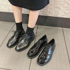 Moonwalk - 仿皮繫帶鞋