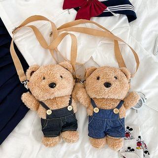 Tango Sky - Fleece Bear Crossbody Bag