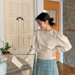 FROMBEGINNING - Puff-Shoulder Blouson Pullover