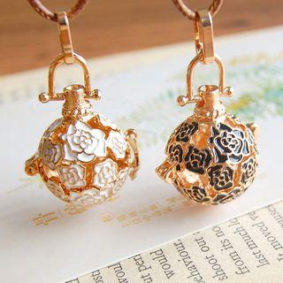 Nisen - Rose Copper Fragrance Sachet Pendant Necklace