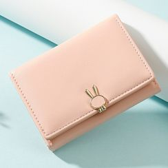 Taomicmic(タオミクミク) - Rabbit Detail Faux Leather Short Wallet