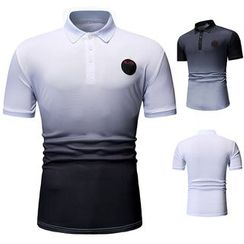 Cowofox - Gradient Short-Sleeve Polo Shirt