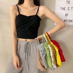 Sisyphi - Crisscross Cropped Camisole Top