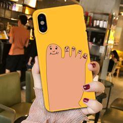 Arancia - 腳趾印花手機保護套 - iPhone 6 / 6S / 6S Plus / 7 / 7 Plus / 8 / 8 Plus / X / XS / XR / XS Max / 11 / 11 Pro / 11 Pro Max