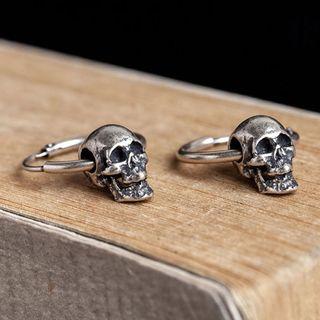 Andante - 925纯银骷髅头耳环