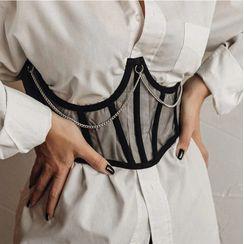 Sosana - 飾鏈條繫帶腰封