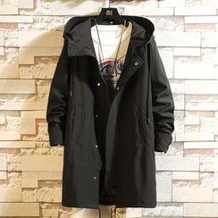 Ferdan - Drawstring Hooded Zip Jacket