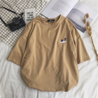 FOEV - Embroidered Short-Sleeve T-Shirt