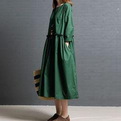 RAIN DEER - 純色長袖娃娃連衣中裙