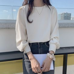 JOWI - Long-Sleeve Plain Blouse