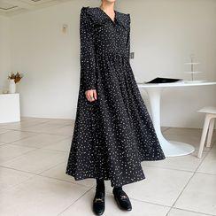 Envy Look - Half-Placket Polka-Dot Dress