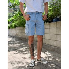 GERIO - Cargo Denim Shorts