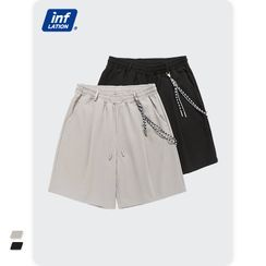 Newin - Plain Drawstring Shorts