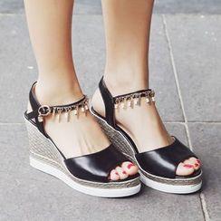 Shoes Galore - Platform Wedge Sandals