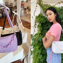 UUZONE - Chain Trim Shoulder Bag