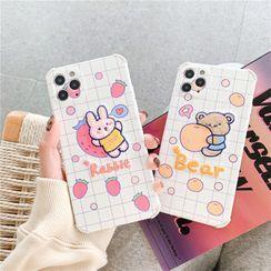 Cellisha - 刺绣动物手机壳 - iPhone 11 Pro Max / 11 Pro / 11 / SE / XS Max / XS / XR / X / SE 2 / 8 / 8 Plus / 7 / 7 Plus