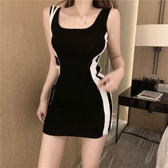 Lassika - Sleeveless Striped Mini Sheath Dress