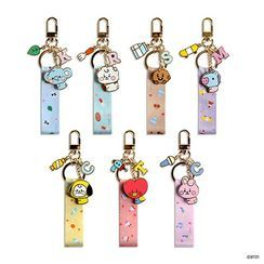 BABOSARANG(バボサラン) - BT21 Pendant Patterned Strap Keyring