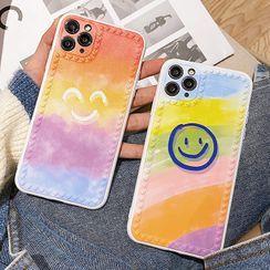 Mobby - Smiley Print Phone Case - iPhone 11 Pro Max / 11 Pro / 11 / SE / XS Max / XS / XR / X / SE 2 / 8 / 8 Plus / 7 / 7 Plus