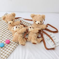 Trendy Spot - Bear Furry Crossbody Bag