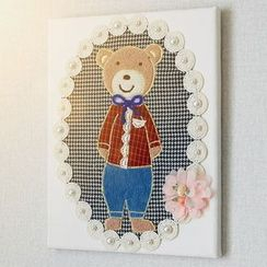 LIFE STORY - Teddy Bear Appliqué Frame Hanging Decoration