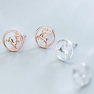A'ROCH(エーロック) - 925 Sterling Silver Deer Earring