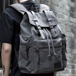 Moyyi - Flap Buckled Laptop Backpack