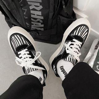 Tanzanite - Animal Print Lace Up Sneakers