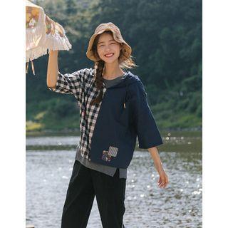 GOROKE - Hooded Color-Block Jacket