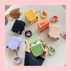 Phone in the Shell - Silicone Suitcase AirPods Case Cover