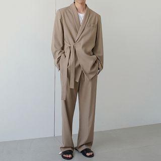MRCYC - Tie-Waist Blazer / Straight-Fit Pants