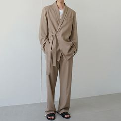 MRCYC - Tie-Waist Blazer / Straight-Fit Pants