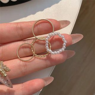 Catharsis - Set of 4: Alloy Ring + Bead Ring