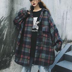 LINSI - 格子长袖衬衫