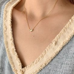 FROMBEGINNING - Heart Pendant Chain Necklace