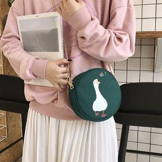 Sacculi - Goose Print Circle Crossbody Bag