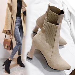 WesWes - High Heel Short Boots