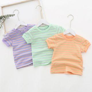 Dolphin Dream - Kids Striped Short-Sleeve T-Shirt