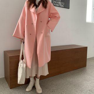 Moon City - Double-Breasted Midi Coat / Midi A-Line Skirt