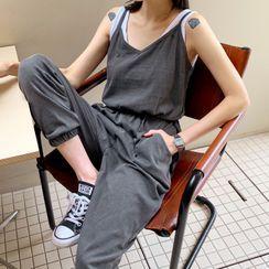 DEEPNY - Tie-Strap Pigment Baggy Jumpsuit