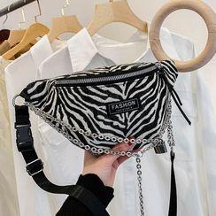 Anadelta - Zebra Print Sling Bag