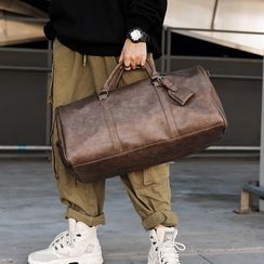 BagBuzz - Faux Leather Duffle Bag