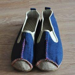 Sparrow Farm - Contrast Stitching Slip-Ons