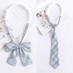 College Affair - 格子可調節免打結蝴蝶結領帶/領帶(多款設計)