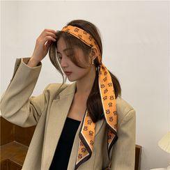 SOCOOL - 格子邊窄圍巾