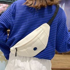 Youme(ユーミー) - Embroidered Canvas Belt Bag