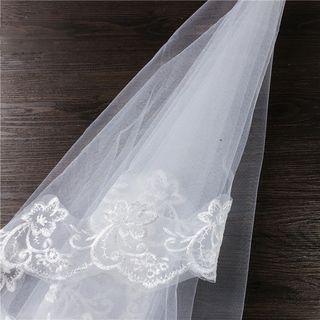 First Impression - Lace Trim Wedding Veil