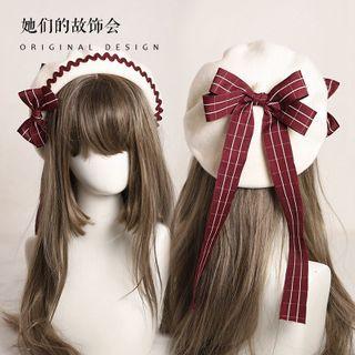AOI - 蝴蝶結羊毛貝雷帽