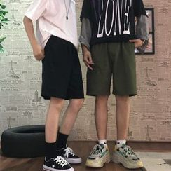 Porstina - Plain Wide-Leg Shorts